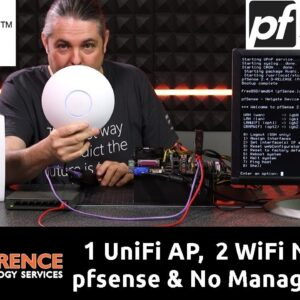 How to Have One UniFi AP-AC-LR & Two WiFi Networks with pfsense, VLANS, & No Managed Switch.