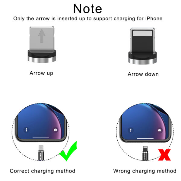 3 In 1 Magnetic Micro Usb 2.4A Fast Charging Nylon Braided Cable