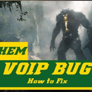 ANTHEM How to fix VOIP Bug