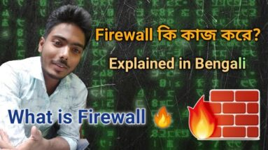 What is firewall ? How to use ? | Firewall কি? এটি কি কাজে লাগে? Explained in Bengali