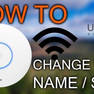 How to Change Wi-Fi Name (SSID) / Ubiquiti Unifi