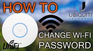 How to change Wi-Fi Password / Ubiquiti Unifi
