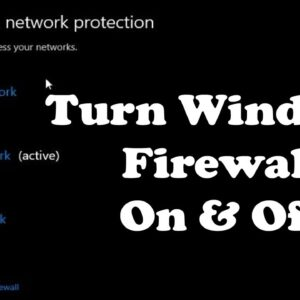 How to Enable and Disable Windows 10 Firewall