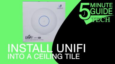 How to Install an UniFi Access Point in Ceiling Tile