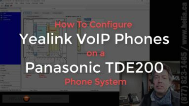 How To Configure Yealink VoIP Phones on a Panasonic TDE200 Phone System