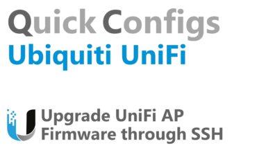 QC Ubiquiti UniFi - Update UniFi AP Firmware through SSH