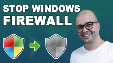 How To Disable Windows Firewall On Windows 10 - Stop Windows Firewall Turn On/Off