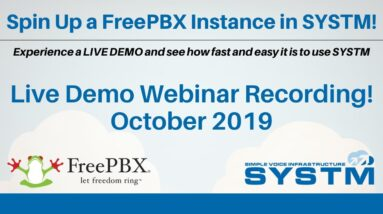 Spin Up FreePBX in The Cloud With SYSTM: Live VoIP PBX Demo