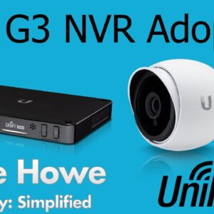 Ubiquiti Networks - UniFi UVC G3 - NVR Adoption - How to