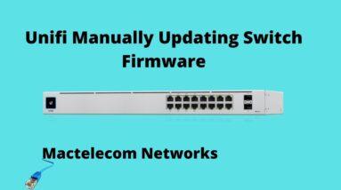 Unifi Manual Switch Firmware Update