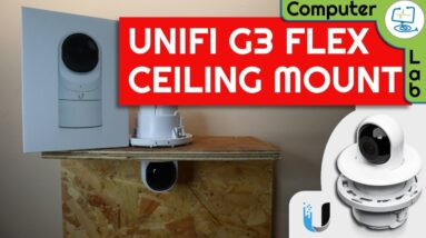 📸 How to- Unifi Flush Mount Option for G3 Flex using UVC-G3-F also the in box mounting options
