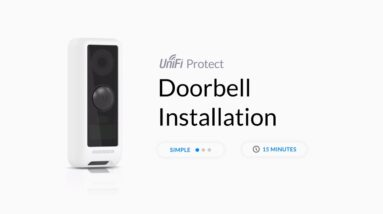How to Install Ubiquiti UniFi Protect G4 Doorbell